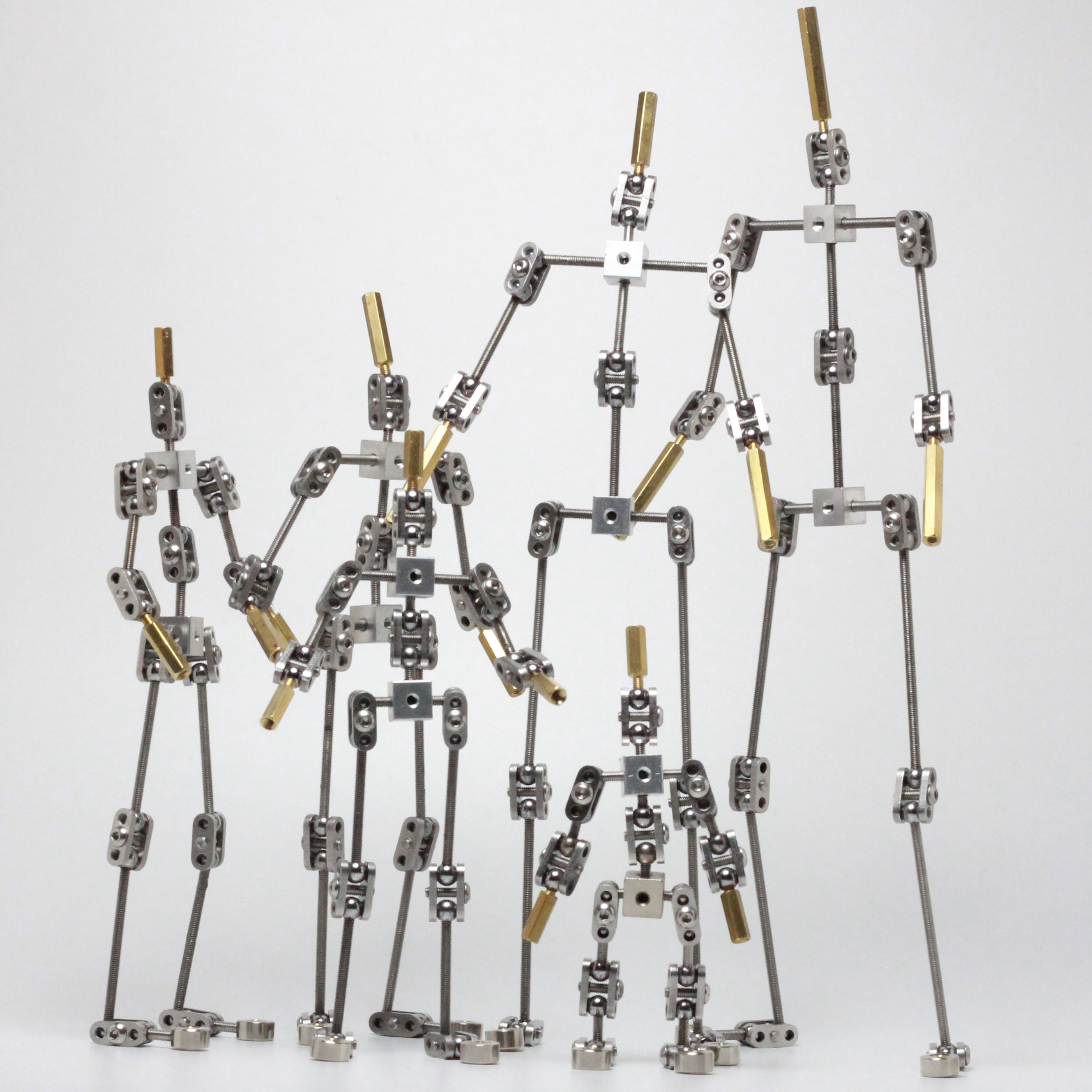DIY Not-Ready-made Animation Studio Armature Kit For Stop Motion Puppet Of Human Body Skeleton