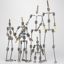 DIY not Ready made animation studio armature kit for stop motion puppet of human body skeleton