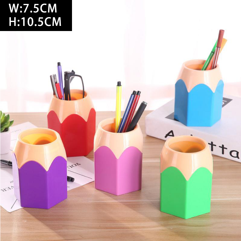 10x7.5cm Pencil Shaped Make Up Brush Pen Holder Pot Office Stationery Storage Organizer School Supplies Dropshipping