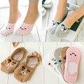 Neue 1 Paar Socken Hausschuhe Nicht-Slip Boot Loafer Baumwolle Frauen Unsichtbare Nette Low Kurze Socken Lustige Katzen Mädchen rosa Cartoon Socke