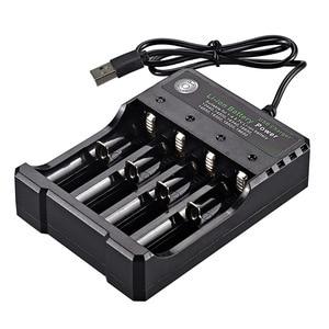 Image 3 - 3.7V 18650 Caricabatterie Li Ion Caricatore del USB della batteria di ricarica indipendente portatile sigaretta elettronica 18350 16340 14500 battery Charger