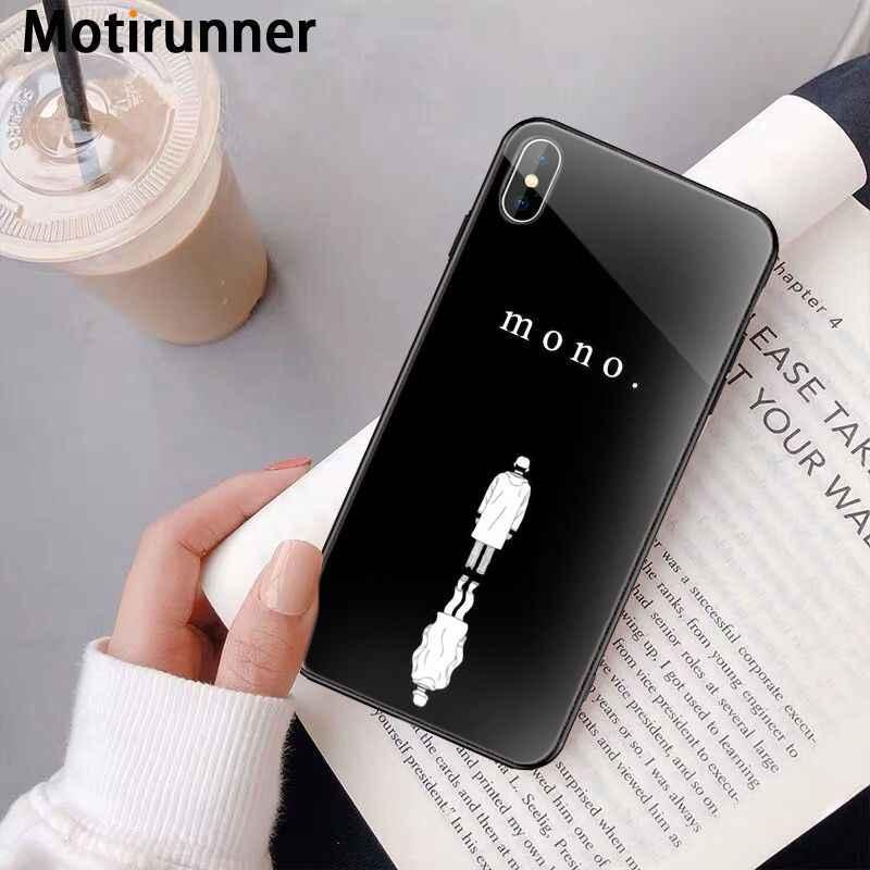 Motirunner Kpop RM Mono 2018 Hitam TPU Lembut Penutup Telepon untuk iPhone 11 Pro XS MAX 8 7 6 6S Plus X 5 5S SE XR Case