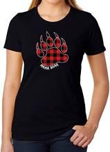 Mama bear paw buffalo клетчатые женские Графические футболки