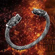 цена на stainless steel Dragon Bracelet Jewelry Fashion Accessories Viking Bracelet Men Wristband Cuff Bracelets For Women Bangles