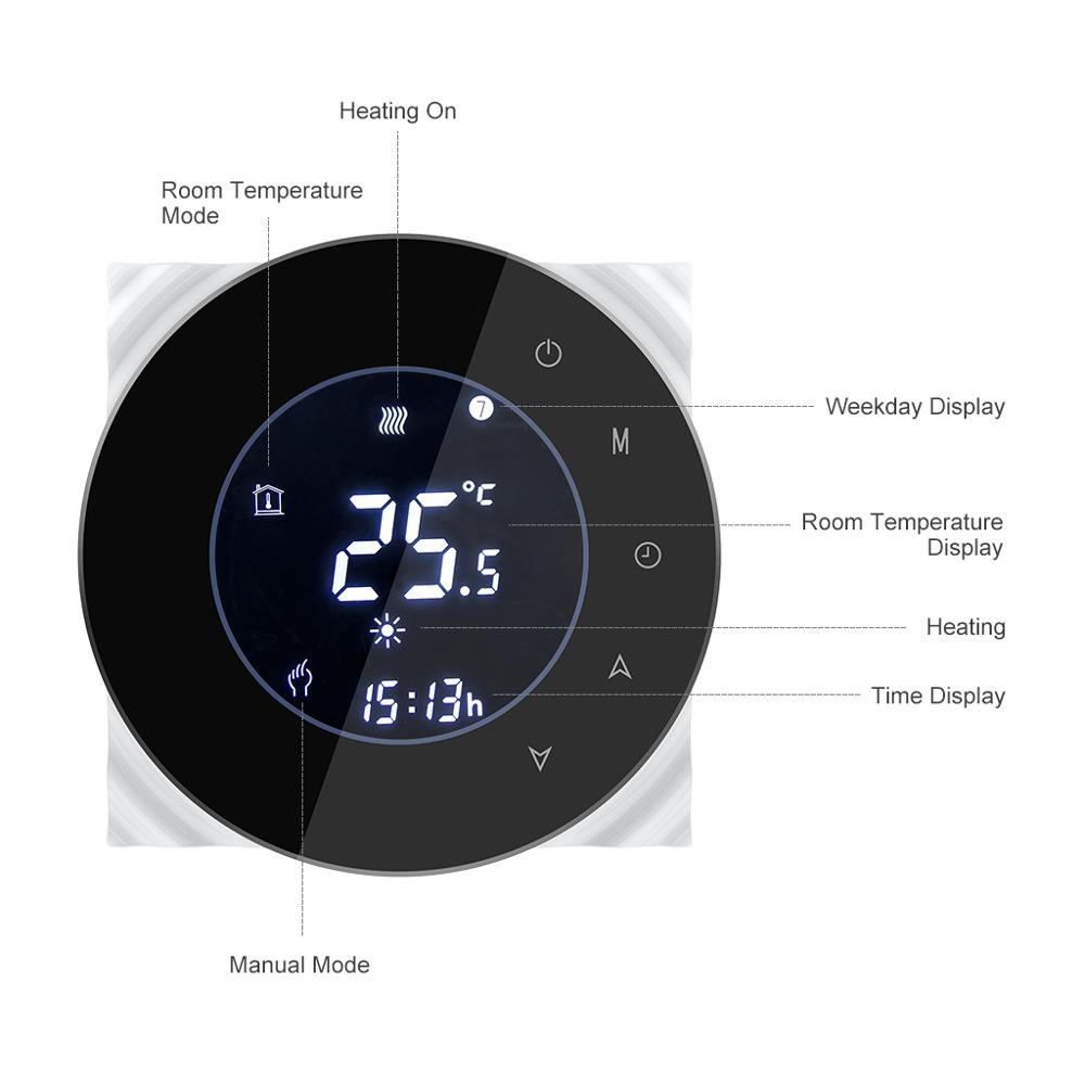 Gas Boiler Thermostat Tuya Remote Control Backlight Weekly Programmable LCD Touch Screen Temperature Controller/Wifi Smart Water