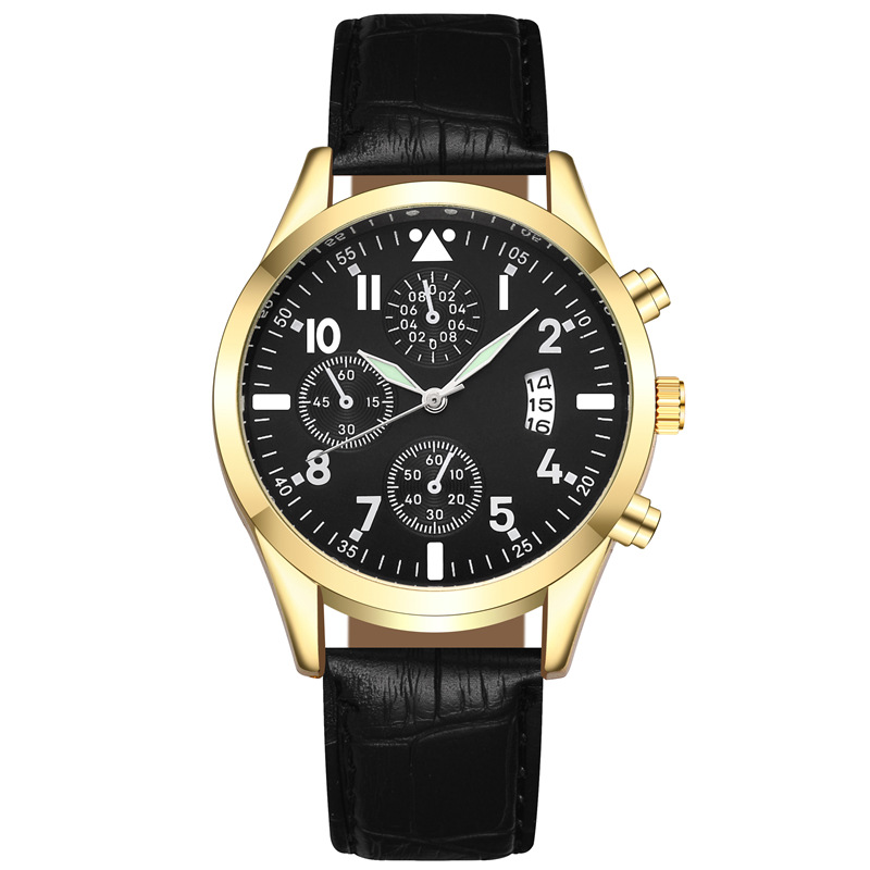 Mens Watches Top Brand Luxury Men's Fashion Business Quartz Watch For Men Casual Leather Watch With Calendar CLOVER JEWELLERY