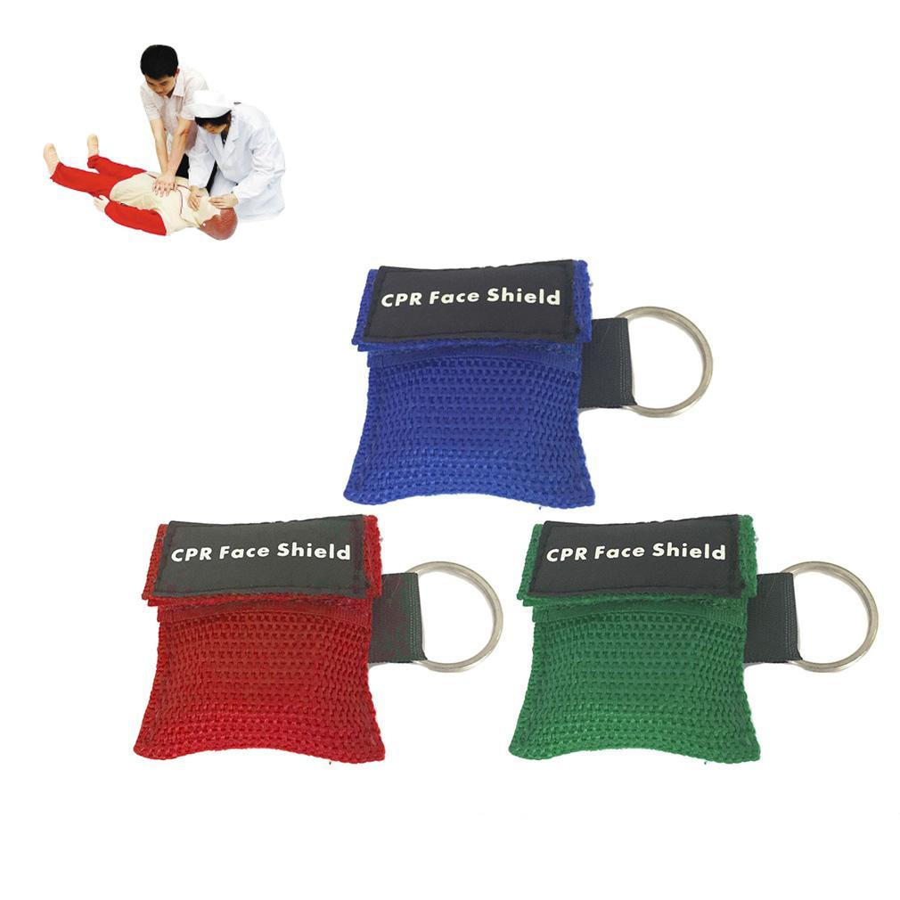 First Aid Mini CPR Keychain Mask / Face Shield Barrier Kit Health Care QK