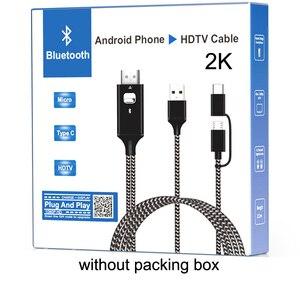 Image 5 - 2K Bluetooth Audio Type C Micro USB HDMI câble HDTV adaptateur pour Huawei Mate 20 P9 Samsung S10 S9 S8 Note 8 9 téléphone Android à la télévision