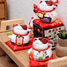 Japanese-style Ceramic Lucky Cat Groceries Creative Money Cans Opened Home Crafts Ornaments