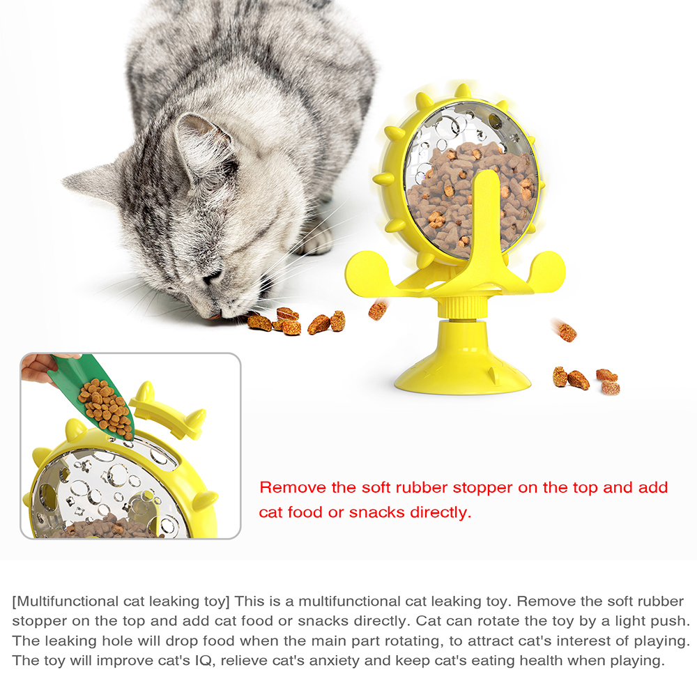 Interactive Treat Leaking Toy for Small Dogs/Cats Slow Dog/Cat Feeder Funny Wheel Pet Products Accessories 3