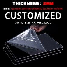 2mm  Plexiglass High Quality Plastic Transparent Board Perspex Panel Thickness Clear Acrylic Perspex Sheet Cut