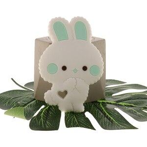 Image 2 - Fkisbox 10 Bộ Gặm Nhấm Silicone Thỏ Bé Xúc Xắc Thỏ KHÔNG CHỨA BPA Trẻ Sơ Sinh Nhai Hạt Mọc Răng Phụ Kiện Vòng Cổ Mặt Dây Chuyền Đồ Chơi
