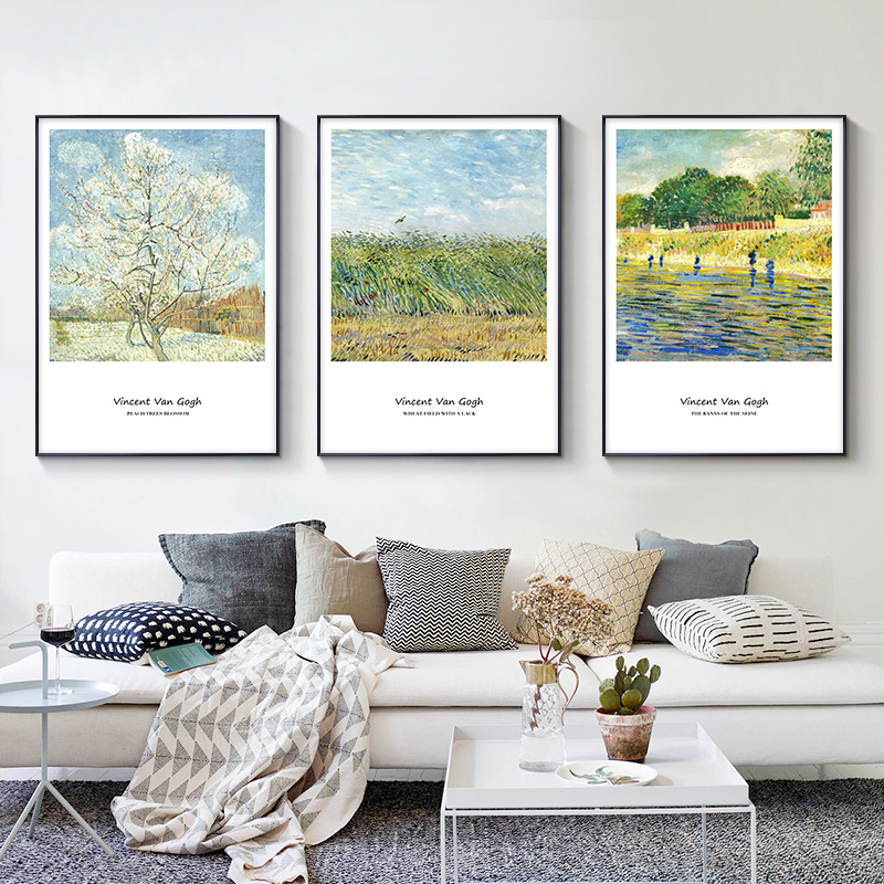 Monet Van Gogh art posters and prints, painting pictures, oil painting, living room decoration, mural decoration art abstract