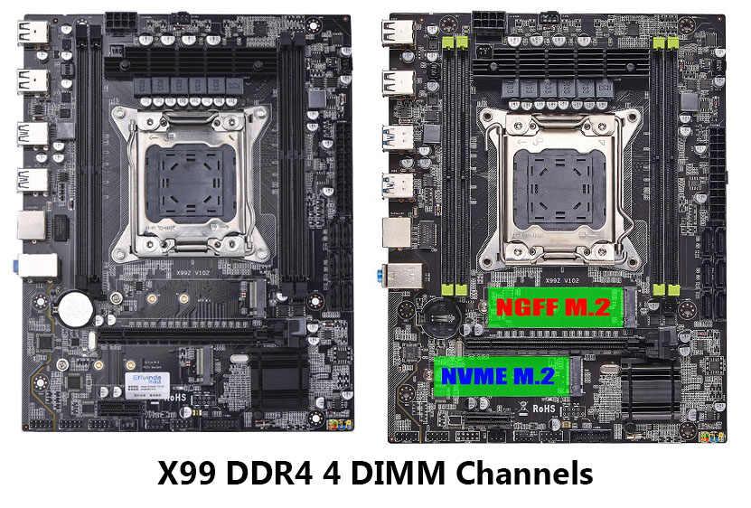Neue X99 LGA 2011V3 Motherboard mit M.2 NVME SSD DDR4 Vier Kanäle 4 DIMM Speicher X99 Motherboard 2011-3 für Intel Xeon E5 CPU