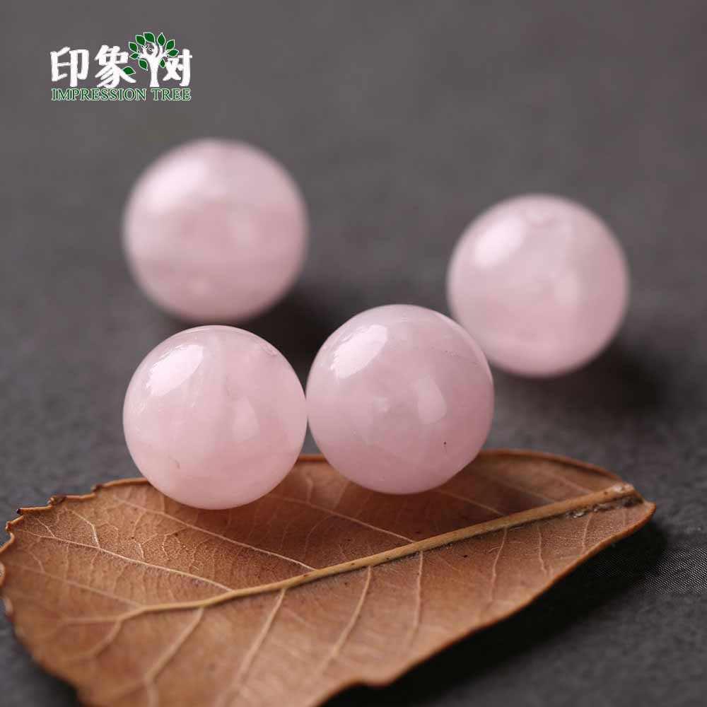1 pçs natural gema madagascar rosa quartzo redondo pedra grânulo 5/8/10/12/14mm contas para colar pulseira diy jóias makings 2967
