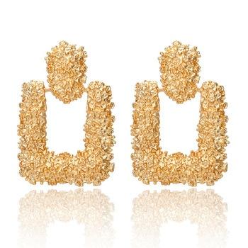2019 Promotion Pendientes Aretes Fashion Statement Earrings Big Geometric For Women Hanging Dangle Drop Earing Modern Jewelry 3