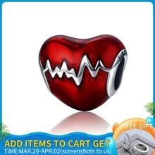 Jewelry-Making Pandora Bracelet 925-Sterling-Silver Love Original Animal-Beads DIY Heart
