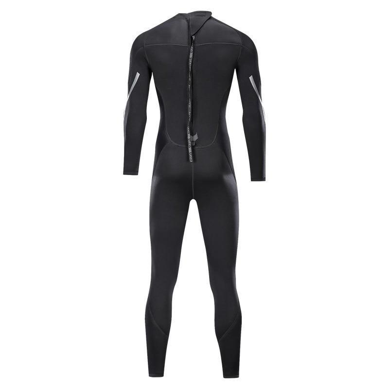 Terno de mergulho masculino, 3mm, corpo inteiro,