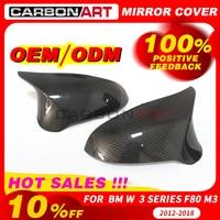 Replacement mirror cover For bm w M3 M4 f80 f82 f83 2012 2014 2016 Car Mirror Caps Carbon Fiber car styling fashion look LHD RHD