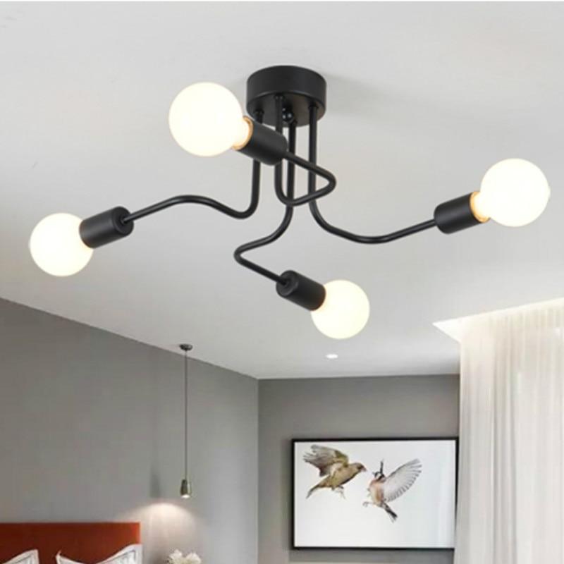 Где купить Железный подвесной светильник, светодиодная промышленная лампа, современный подвесной светильник-паук, черный Лофт, подвесной светильник, промышленный светильник для гостиной, подвесной светильник
