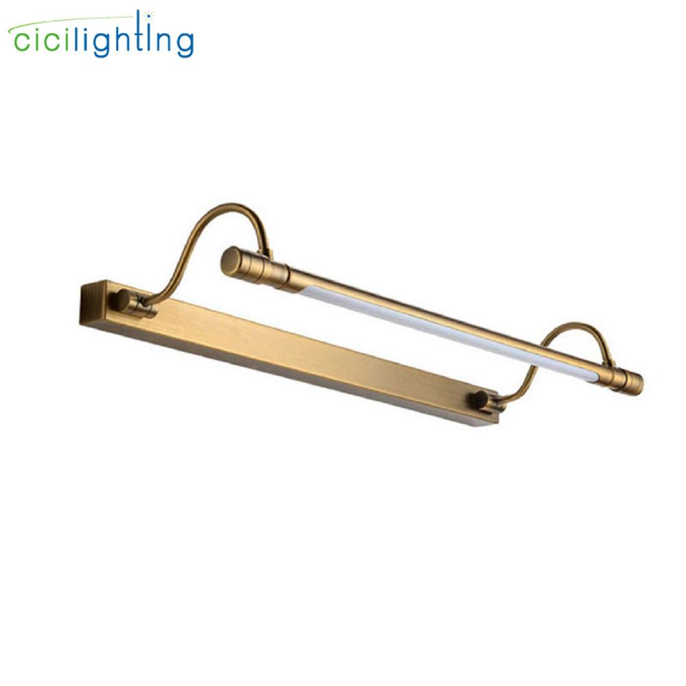 100 в 240 в 6 Вт 48 см светодиодные ретро лампы для туалетного столика минималистичные зеркальные передние лампы для ванной Современные европей