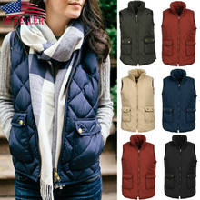 Ladies Snowsuit Fashion Slim coats New Brand Sleeveless Jacket Winter Vest Female Slim Vest Women's Windproof Warm Waistcoat(China)