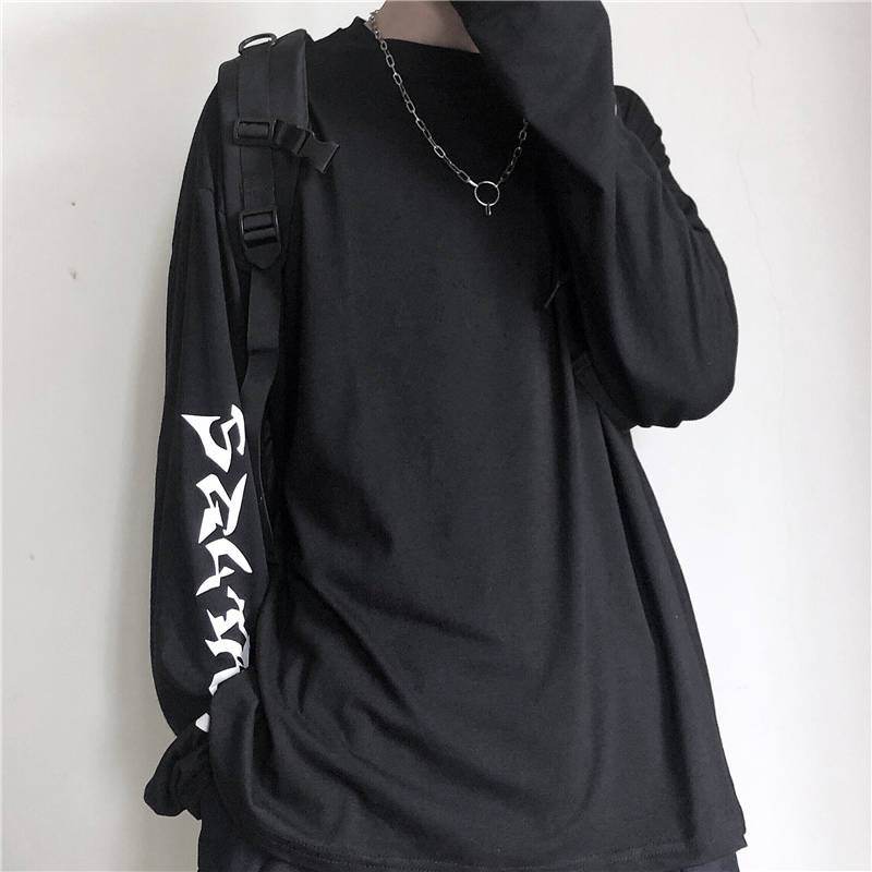 Harajuku футболка уличная хип хоп футболки для мужчин и женщин Повседневная Корейская футболка с длинным рукавом свободная футболка уличная Ос...