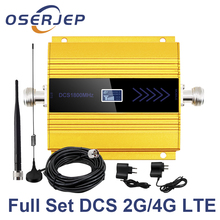 OSERJEP 4G LTE Mobile Signal Repeater 1800Mhz Handy Cellular GSM 1800 MHz Handy LCD Display + Sucker antenne