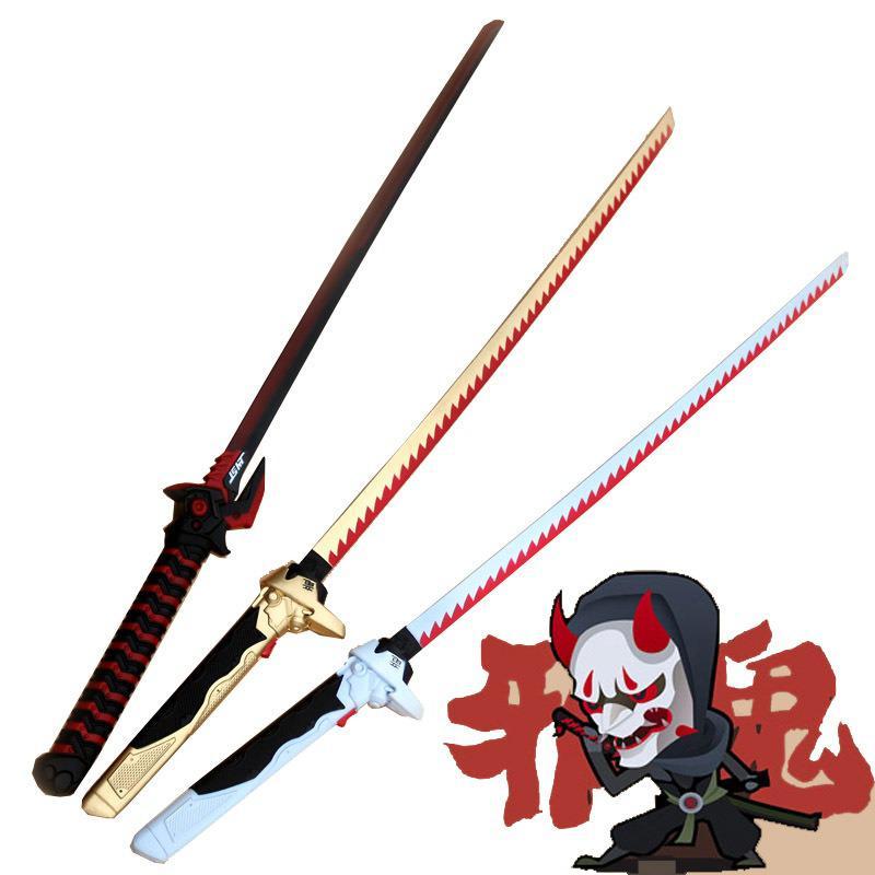Pu Foaming Sword Weapon Toys Anime Games Cosplay Genji Knife Nihontou Samurai Sword Katana Ninja Espada Pu Prop Toy For Teen
