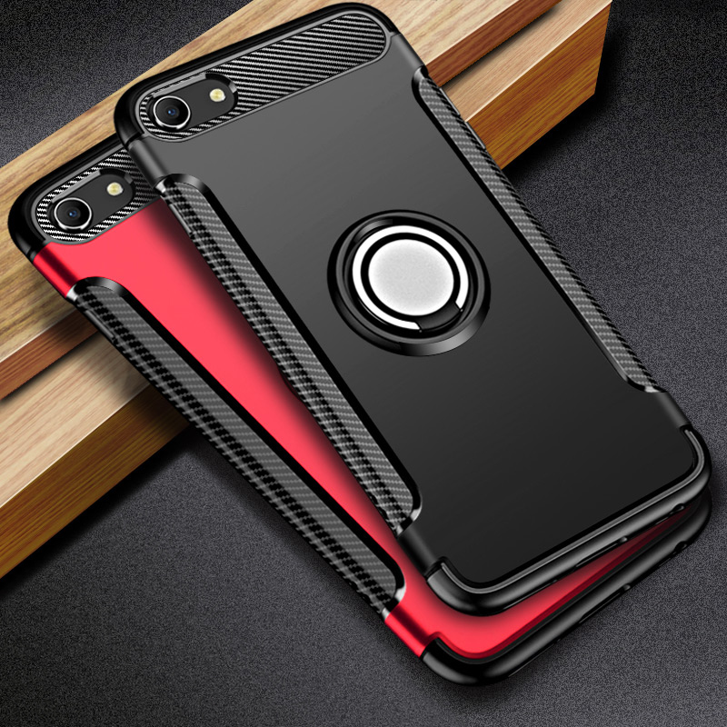 <font><b>Oppo</b></font> Reno 10X <font><b>Case</b></font> Ring Holder Armor Bumper Protective Back Cover <font><b>OPPO</b></font> A3s A5 AX5 A59 F1S Find 9 A79 A83 A1 F5 <font><b>F9</b></font> A7X Phone <font><b>Case</b></font> image