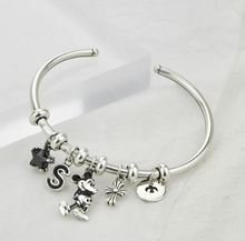 S925 silver fashion ladies bracelet new sterling Mickey female simple tide