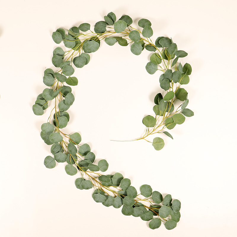1 Meters Artificial Garland Rattan Eucalyptus Vine Wreath Wedding Party Home Decor Plastic Artificial Flower Rattan String