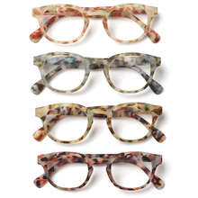 Turzing Round Reading Glasses, Spring Hinge, Male and Female Reading Glasses, Diopter 0.5 1.75 2.0 3.0 4.0 0.5 .06 Lenses Color