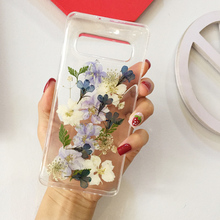 Real Pressed Dried Flowers Transparent Phone Case For
