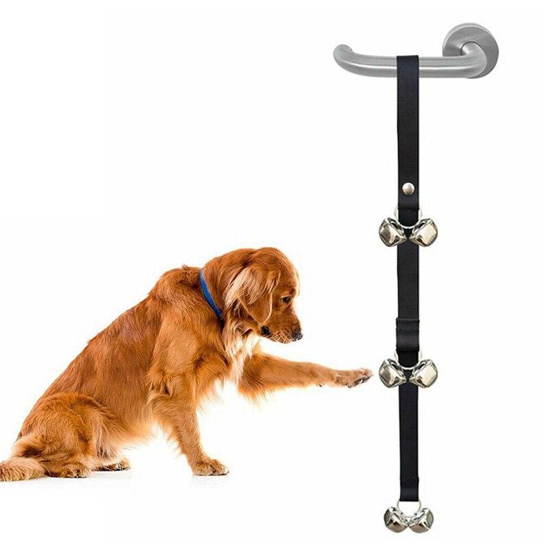 Dog Doorbells Premium Quality Training Potty Great Adjustable Dog Bells for Housebreaking Clicker Door Bell Training Tool-5