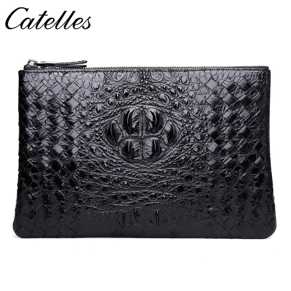 Slim Soft Wallet 100% Sheepskin Genuine Leather Alligator Credit Card Wallet Purse Card Holders Men Wallet Thin Small