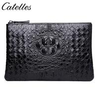 Slim Soft Wallet 100% Sheepskin Genuine Leather Alligator Credit Card Wallet Purse Card Holders Men Wallet Thin Small