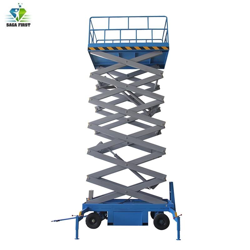 Antiskid Plate Platform Lifting Full Electric Scissor Lift In Stock
