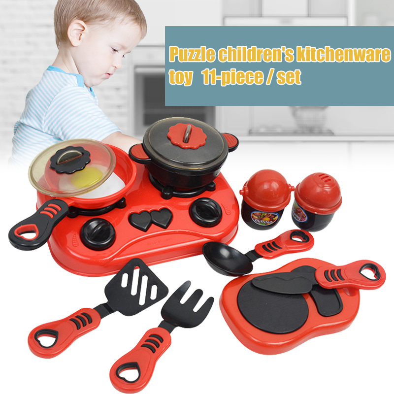 11pcs Play Cooking Kit For Kids Kitchenware Set Roleplay Toddler Playhouse Game For Children YH-17