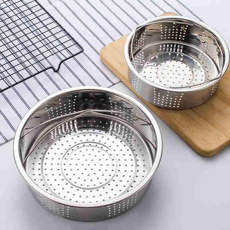 1pc Stainless Steel Steamer Multifunction Kitchen Tools Double Handle Egg Steamer Rack Set Egg Steam Basket