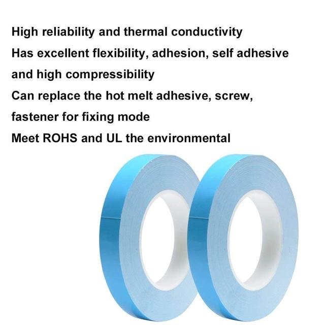 25 metrów/rolka 8mm 10mm 12mm 20mm szerokość taśma transferowa dwustronnie termiczna klej przewodzący taśma do chipa PCB taśmy LED radiator