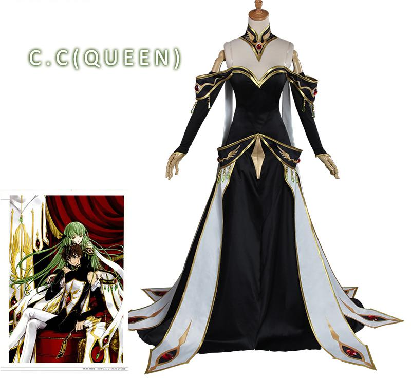 Code Geass Cosplay Lelouch Of The Rebellion C.c. Empress Ver. Costume Anime Code Geass Lelouch Of The Rebellion Cosplay