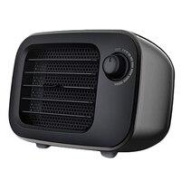 Portable Desktop Heater Fan Mini Heater Home Office Heater PTC Air Heater-EU Plug Black