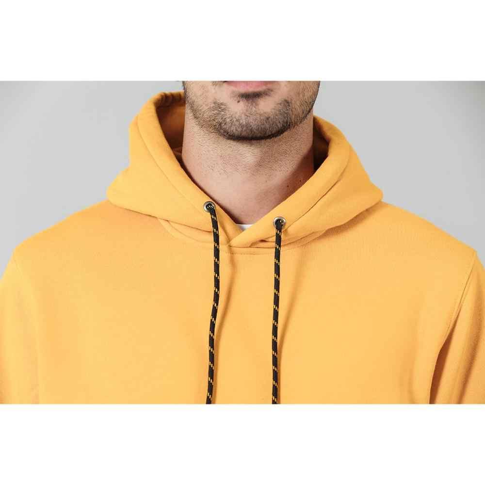 SIMWOOD แฟชั่น Hoodies ผู้ชาย Casual ขนแกะสีทึบ Hooded Streetwear หนาเสื้อ Jogger PLUS ขนาด SI980711