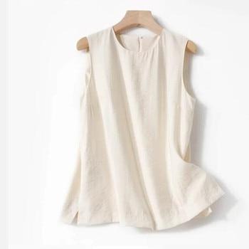 2020 Summer O-neck Sleeveless Vest Top Ladies Vest Or Female Wide Leg Pants Trousers Female Clothes Suit
