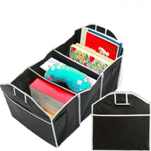 Image 3 - Car Multi Pocket Trunk Organizer Large Capacity Folding Storage Bag Trunk Stowing and Tidying Trunk Organizer Car Accessories