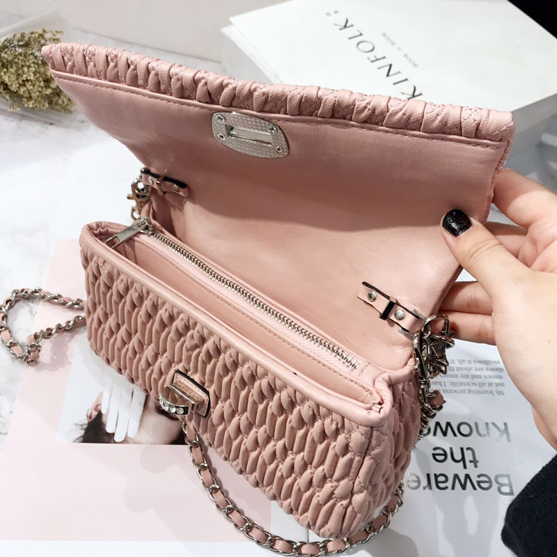 Bagaj ve Çantalar'ten Omuz Çantaları'de Moda Lüks Çanta Kadın Çanta Tasarımcısı Koyun Derisi Kadın omuz çantaları postacı çantası Elmas Parçaları Akşam Çantalar'da  Grup 3
