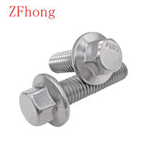 M5 M6 M8 M10 M12 Large hexagon head flange bolts Stainless steel series hex head flange bolt Tooth with hexagonal screw(China)