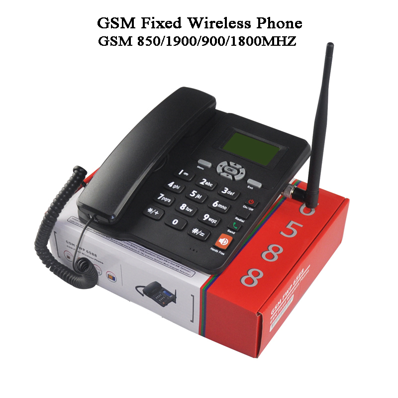 2 Sim Card 2G GSM Fixed Wireless Phone FWP Lansline Phone PSTN SMS Call In/out Suit Telemarketing Alarm  Desktop Fixed Phone