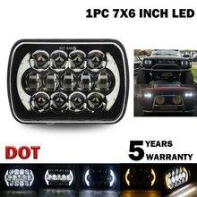 210w 5x7 Polegada 7x6 Polegada projetor led farol drl com chicote de fios h4 para chevrolet jeep cherokee xj toyota tacoma & 88-95 captador 1